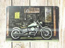 biker motorcycle rider tin metal sign wall accessories decor