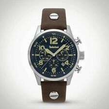 Timberland Jenness 15376JS/03 Men's Watch With Brown Leather Strap