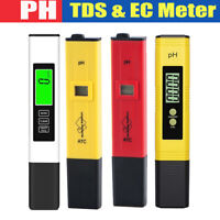 Digital Ph Meter + TDS Tester Hydroponic Pool Water Aquarium Pocket Portable
