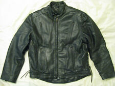 Heavy 7+lbs Leather Motorcycle Jacket Vented Cafe Racer Cool Rider Biker 46 XL