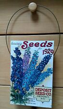 Deposit Seed Company NY Catalogue Of Seeds 1929 Delphiniums wall decor, plaque