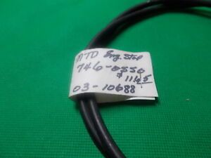 ROTARY 10688 ENG. STOP CABLE REPLACES MTD 746-0550. PUSH & SP MOWERS. Z BEND
