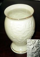 SALE 20% OFF LENOX Vase Lily Ivory Embossed Porcelain Footed USA