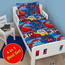 ULTIMATE SPIDERMAN WEBHEAD TODDLER JUNIOR DUVET COVER SET + QUILT + PILLOW
