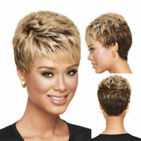 Daily Wear Hair Wig Pixie Cut Short Brazilian Hair Glueless Wig Mix Brown Color