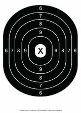 "Black Oval Bullseye Pistol & Rifle Paper Shooting Targets -10""x14"" -104count"