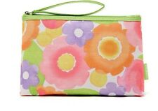 Women's Clinique Colourful Floral Cosmetic Purse with Zipper brand new