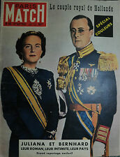 MATCH  PARIS N°62/27 MAI 1950 -Le couple royal de Hollande JULIANA ET BERNHARD