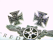 Cufflinks by Sacred Angels Men's Sterling Silver Black Diamond