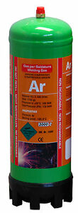 Argon gas bottle 220ltr for mig/tig welding disposable cylinder