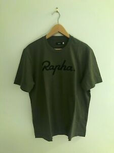 Rapha Olive Green Embroidered Logo T Shirt Size L