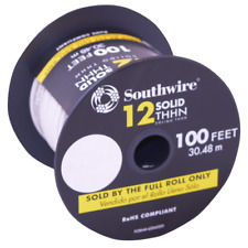 Southwire Thhn Wire 100 Ft 12 Gauge Heat Resistant Solid Copper White