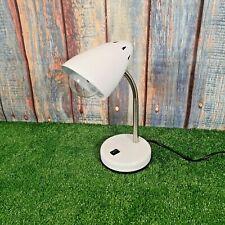 White Swan Neck Desk Light Lamp Retro Style Fully Working