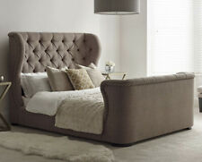 NEW chesterfield sleigh bed upholstered diamond style