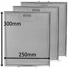 3 x Silver Grease Filter For SAMSUNG Cooker Hood Metal Filters 300 x 250mm