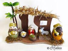 Portal de Belen Nacimiento Infantil 6 Figuras Navidad