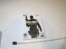 Call of Duty: Modern Warfare 3 (Nintendo Wii, 2011) video game Mature MW3