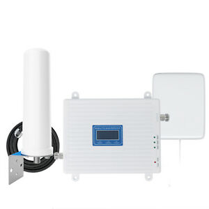 Band 8, 1, 7 Cell Phone Signal Booster GSM 2G 3G 4G LTE 900 2100 2600Mhz 65dB