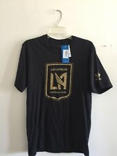 Adidas Originals LAFC 2018 T-shirt Short Sleeve Black Gold Size S Men's Only