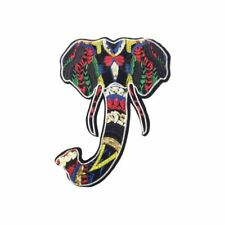 Tribal Aztec Elephant L (Iron On) Embroidery Applique Patch Sew Iron Badge