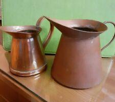 2 Vintage Copper Jugs