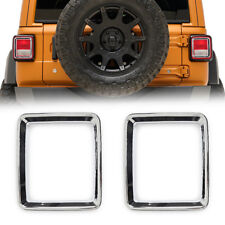 Jeep Wrangler JL Taillight Tail Light Lamp Trim Bezel Cover Chrome Accessories
