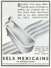 Publicité Sels  Mexicain  Medecine Pharmacie seins  Topless  ad  1934 - 6h