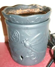 Scentsy warmer - Dragonfly Charcoal Gray Deluxe Size Warmer Discontinued Retired
