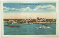 Postcard Memphis TN Waterfront Mississippi River Down In Dixie Skyline Boats