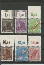 Berlin 6mal OR-Stück Rotaufdruck sauber ** 22 Schlegel BPP M€ 350 - 47-094