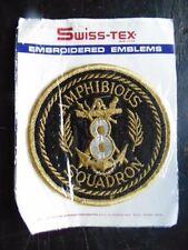 INSIGNE TISSU PATCH US NAVY MARINES CORPS USMC 8 AMPHIBIOUS SQUADRON SWISS-TEX
