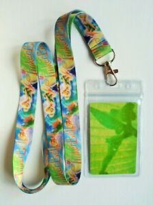 Tinkerbell Fairy Lanyard Neck Strap / matching card in grip-seal pvc id holder