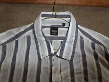 Hugo Boss regular fit striped long sleeve shirt size L chest 46