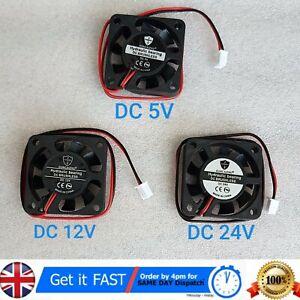 40mm x 40mm x 10mm 4010 5V, 12V, 24V Hydraulic Bearing Brushless DC Cooling Fan
