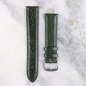 Genuine Calfskin Leather Watch Strap - Green - 18mm/20mm