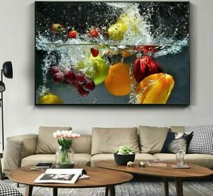 Fresh Fruit Vegetables Wall Posters Home Kitchen Decor Living Canvas Paintings