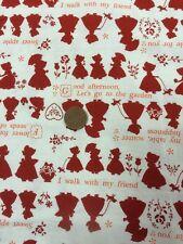 100% COTONE Quilting Craft Tessuto Lecien Giappone HOLLY HOBBIE Crema Rosso