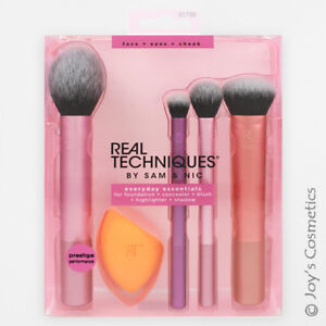 "1 REAL TECHNIQUES Everyday Essentials Brush Set ""RT-1786""  *Joy's cosmetics*"