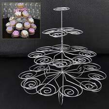 4 Tier Metal Cupcake Stand Holder Tower Wedding Party Dessert Carrier Display