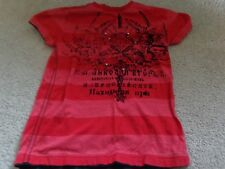 Boy's Sz 8/S UPROAR-tee Shirt red with black velvet design