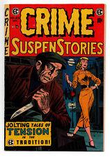 CRIME SUSPENSTORIES #25 5.5 KAMEN COVER EC COMICS 1954 OFF-WHITE/WHITE PAGES