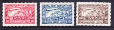 Grecia 1933 Zeppelin Aire Conjunto de 3-Excelente desmontado como nuevos SG458/60. Cat £ 375