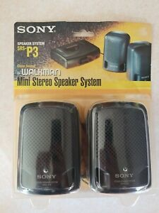 Sony Mini Stereo Speaker System Srs-p3 for Walkman 1994 New!