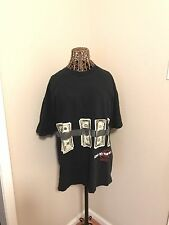 Roca wear men's black money t-shirt size XL, 100% cotton