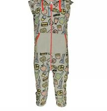 All in One small mens sleepsuit with poppers underneath Sensory/ Autistic