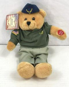 Musical Bear Stuffed Animal Chantilly Lane Wild Blue Yonder Airforce NWT AAC89