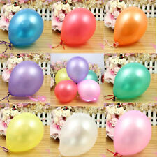 "100 Latex BALOONS 10"" BALLONS helium Metallic BALLOONS Party Birthday Wedding"
