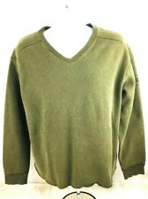 Vintage Ralph Lauren Men's Polo Sport Jupiter Green L/S V-Neck Sweatshirt, Sz L