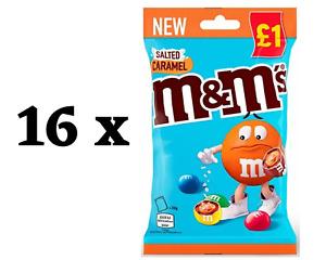 M&M'S Salted Caramel Treat Bags - 16 x 70g - Full Original Box - BBE 30/01/2022