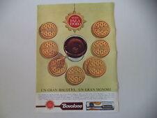advertising Pubblicità 1964 BISCOTTI BOVOLONE